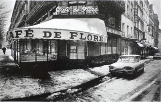Jeanloup Sieff. Café de Flore, Paris, 1978
